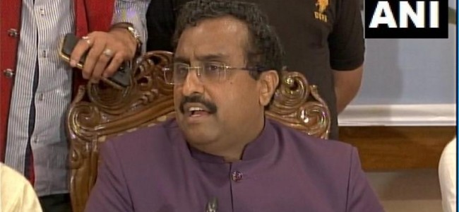 'Environment of fear for selfish interests': Ram Madhav on J&K politics
