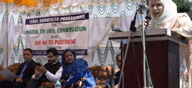 Seminar on environmental  issues held at Pampore