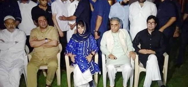 Mehbooba, Lone, Shah Feasal At Raj Bhawan