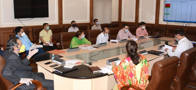 Advisor Baseer Khan reviews progress of developmental schemes implemented by RDD