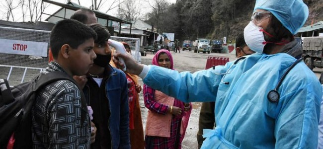 Jammu and Kashmir Confirms 105 New Coronavirus Cases, Tally at 2,446