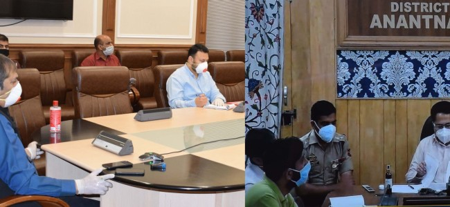 Baseer Khan reviews initiatives regarding Covid-19 management in Anantnag