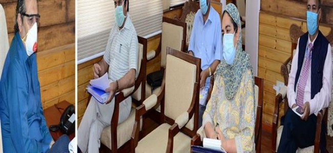 Advisor Baseer Khan reviews coronavirus control efforts