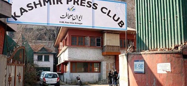 PCI constitutes committee to investigate 'intimidation' of Kashmir based journalists