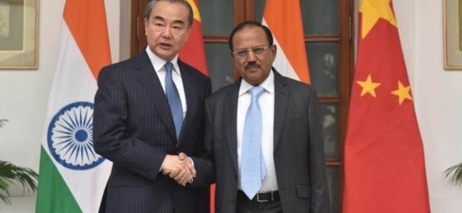 NSA Doval and Chinese FM Wang agree on expeditious disengagement of troops in eastern Ladakh