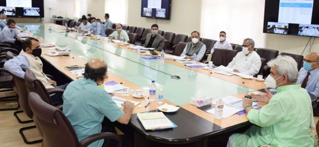 LG reviews power scenario in J&K