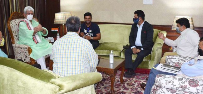 Suresh Raina to set up cricket academy in J&K  'Sports to give new direction to JK youth': Lt Governor