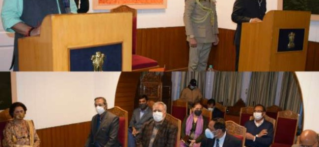 Lt Governor administers Oath to KK Sharma as State Election Commissioner