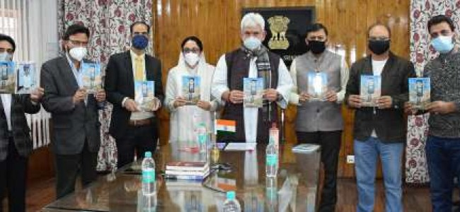 "Lt Governor releases ""Ahsasan Hunde Sheeshe Khane""- a Poetry collection by Dr. Darakhshan Andrabi"