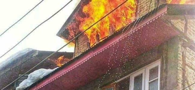 Fire breaks out in Nawa Kadal
