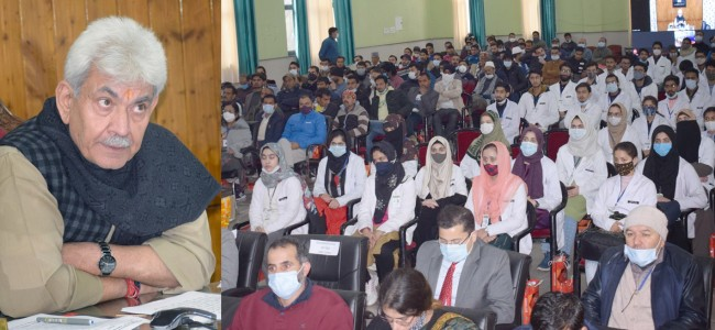 Lt Governor Manoj Sinha, Union MoS PMO Dr Jitendra Singh inaugurate 1st Academic batch of 100 MBBS students of GMC Doda