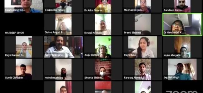 DSEJ organises motivational talk on' Hope during Pandemic Times' under Manodarpan
