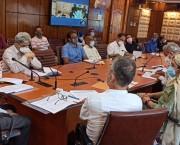 Advisor Bhatnagar reviews progress of works on major PMDP projects of H&ME