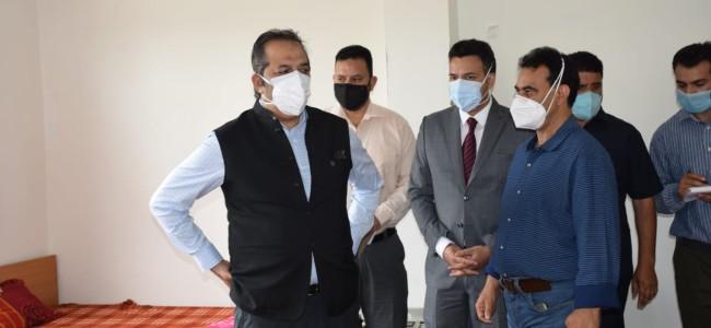 Advisor Baseer Khan visits Kulgam; Inspects Rural Development, Flood Protection, PDD works