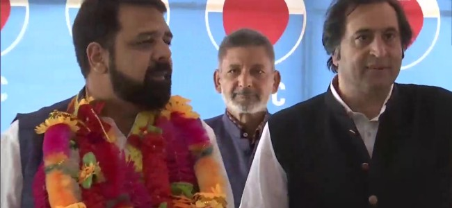 Veteran NC leader Abdul Rahim Rather's son joins People's Conference